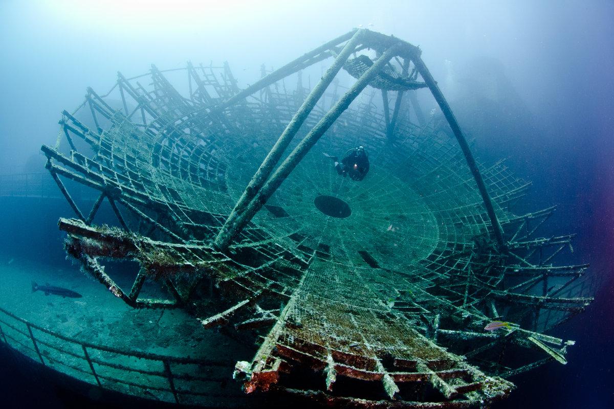 Barcos hundidos impresionantes, el Vandy.
