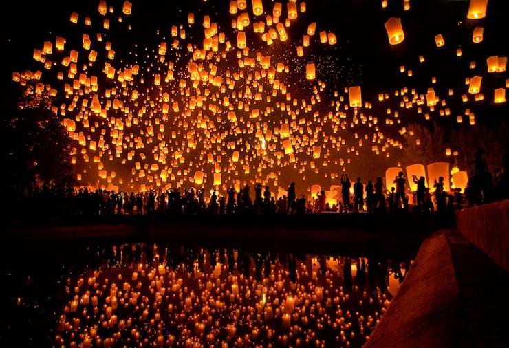 Hipnotizando festival de las linternas