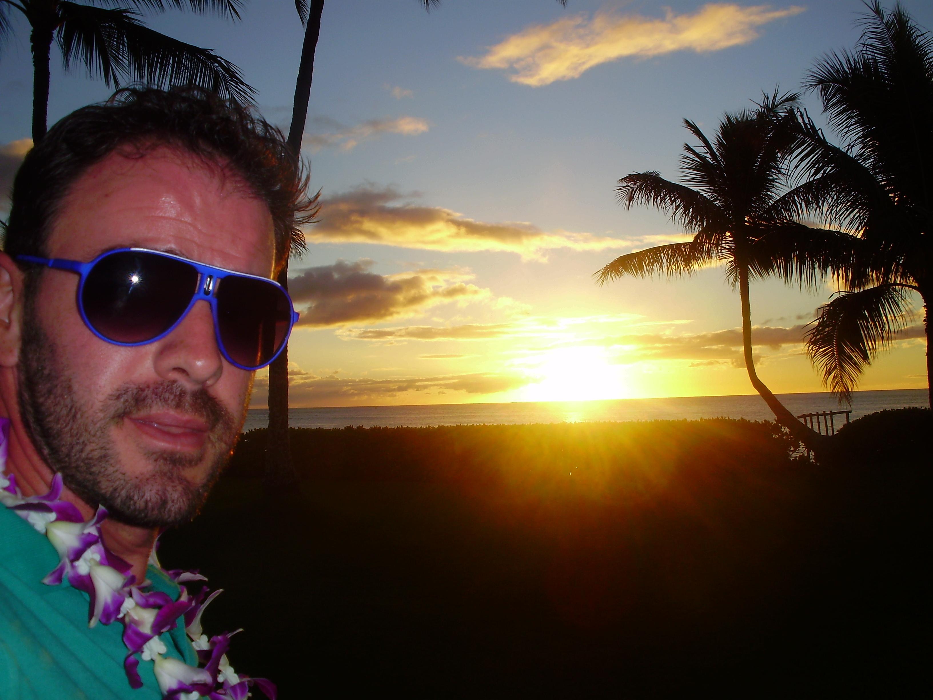 Puesta de sol en Hawai