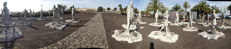 Panorámica del museo submarino de Lanzarote