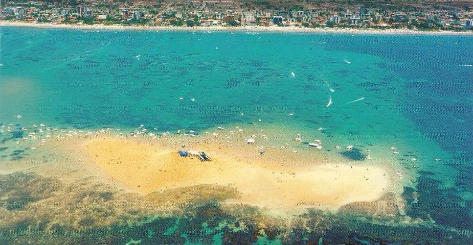Vista aérea de Areia Vermelha.