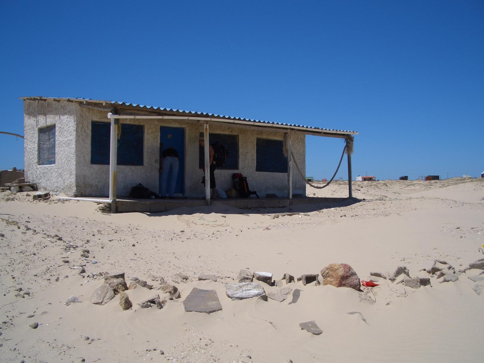 Cabaña en la playa de Cabo Polonio
