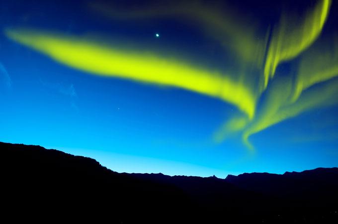 Colores de la Aurora Boreal.