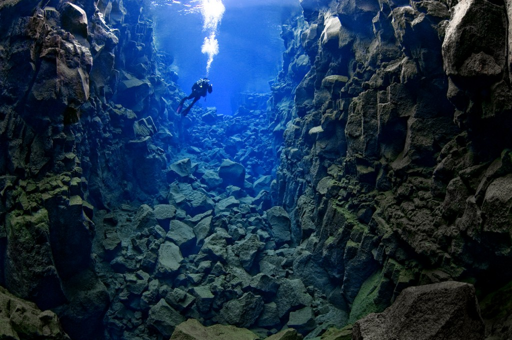 Grieta de Silfra en Islandia
