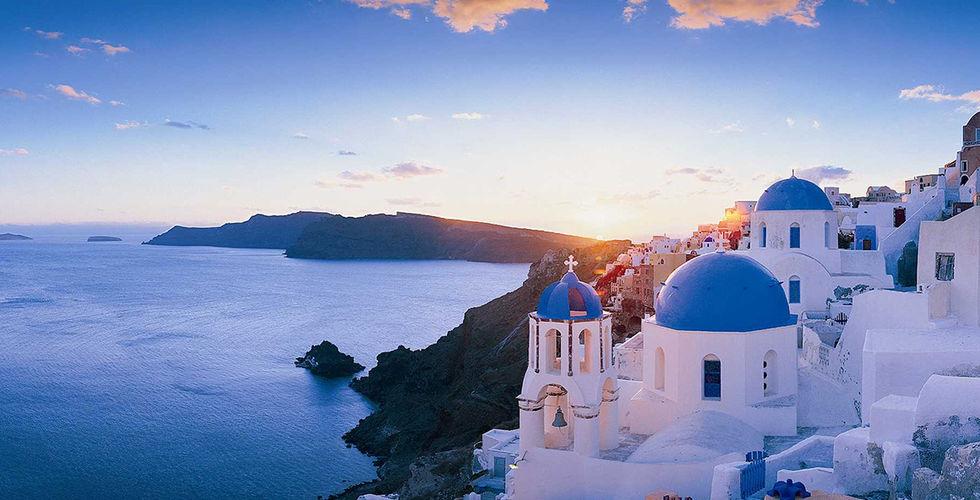 Santorini en la vuelta al Mediterráneo en crucero