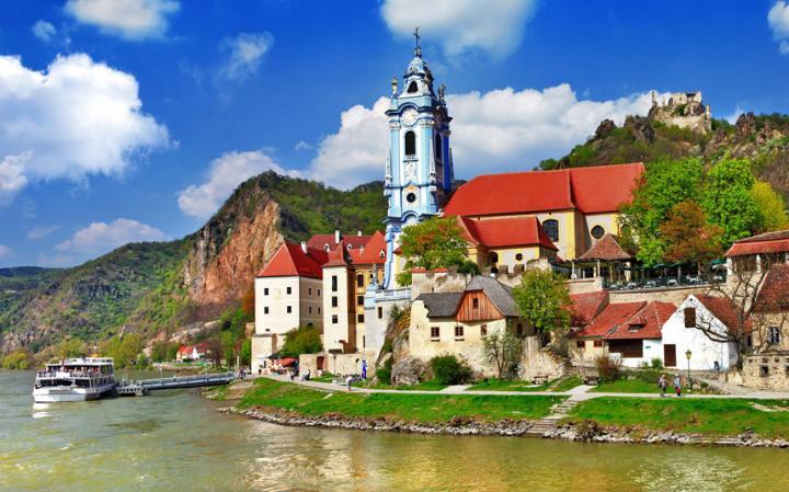 Valle Wachau en el Danubio