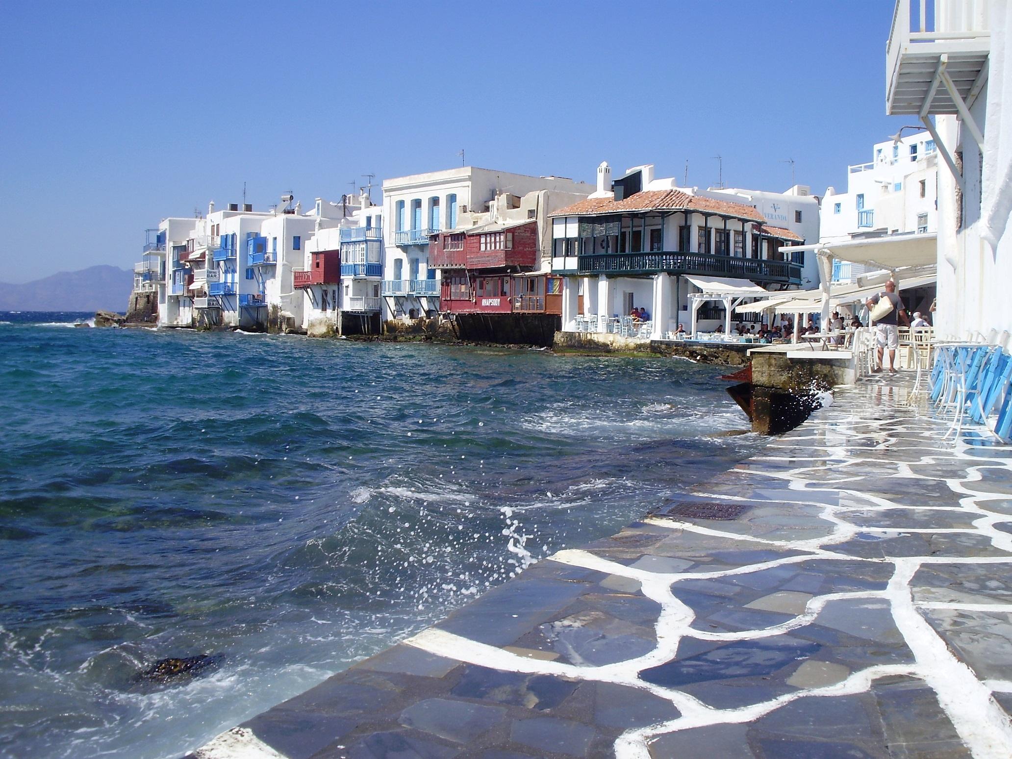 Mykonos en la vuelta al Mediterráneo en crucero