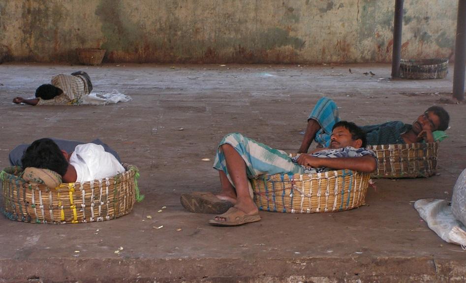 Siesta en la India