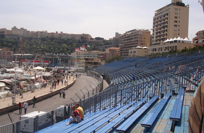 Gradas de la F1 de Monaco
