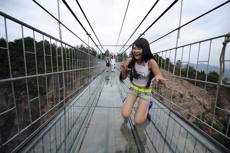 El puente de cristal más alto del mundo.