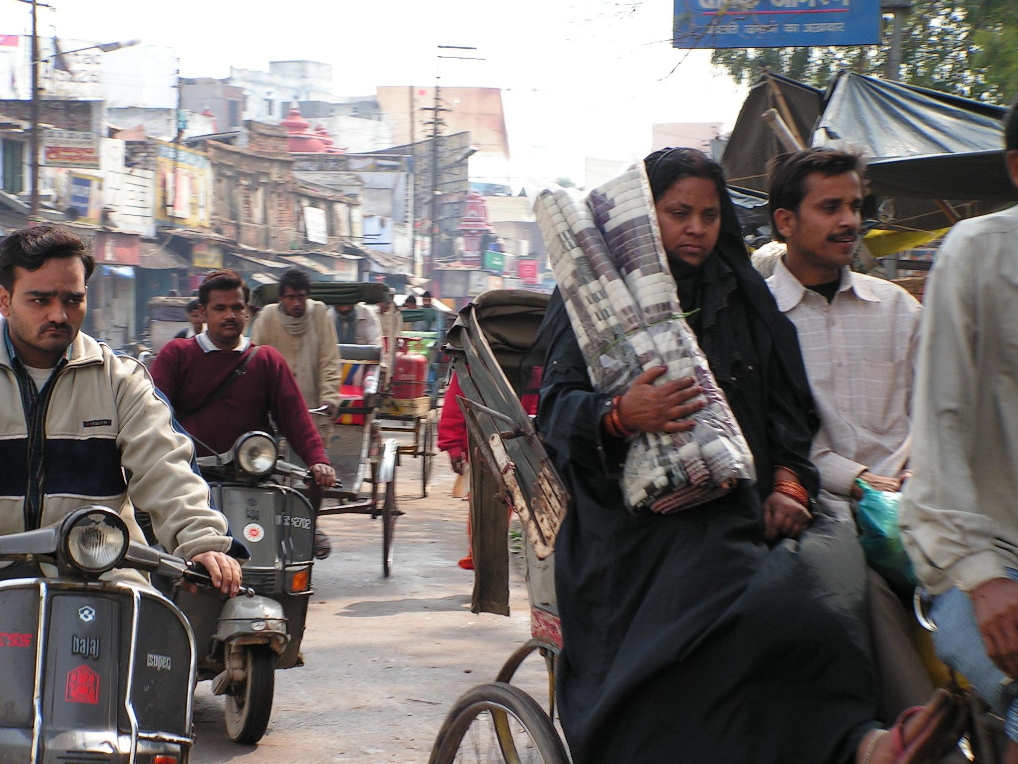 Mujer viajando sola en la India