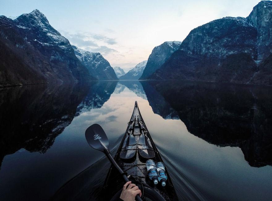 Fiordos noruegos en kayak
