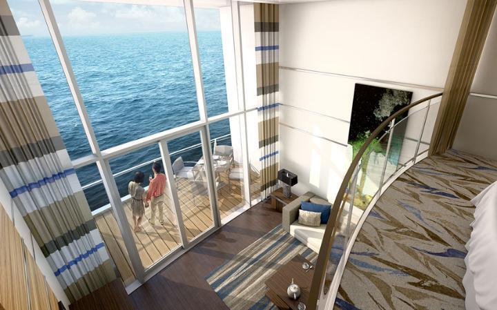 Suite del Quantum, de los cruceros más grandes del mundo