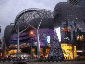 Centro comercial en Orchard Road.