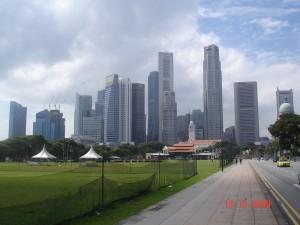 Vista del CBD de Singapur.